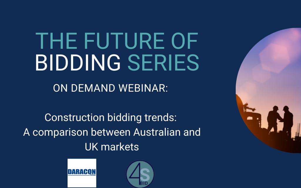 On demand webinar: Construction bidding market trends – Australia and UK comparison